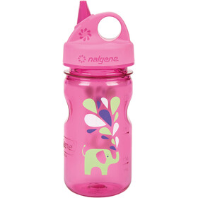 Nalgene Everyday Grip-n-Gulp Bottle 350ml Kids, pink elefant